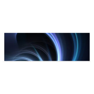 Blue Shining Solar Fractal Starburst Mini Business Card