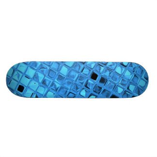Blue Shiny Diamonds Sissy Girly Girl Skateboard