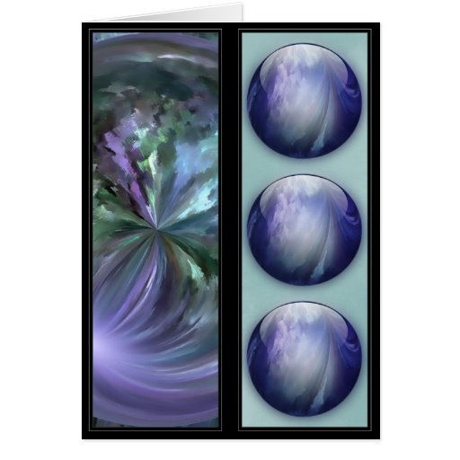 Blue Shiny Glass Marble - Bookmarks Greeting Card