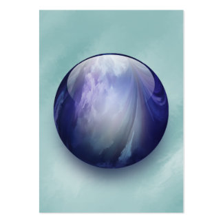 Blue Shiny Glass Marble Large Business Cards (Pack Of 100)