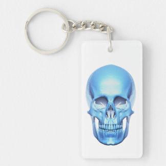 Blue Shiny Skull Key Chain Acrylic Keychains