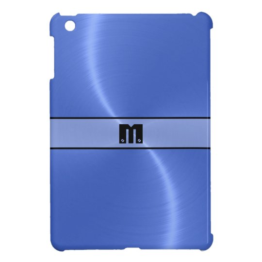 Blue Shiny Stainless Steel Metal 10 Cover For The iPad Mini