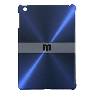 Blue Shiny Stainless Steel Metal 10 iPad Mini Cover