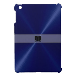 Blue Shiny Stainless Steel Metal 2 Case For The iPad Mini