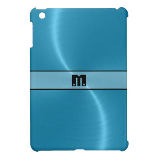 Blue Shiny Stainless Steel Metal 8 Cover For The iPad Mini