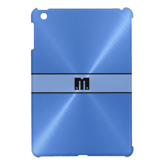 Blue Shiny Stainless Steel Metal iPad Mini Case
