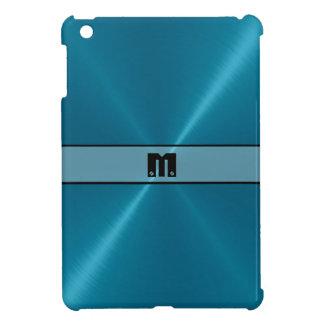 Blue Shiny Stainless Steel Metal iPad Mini Cases