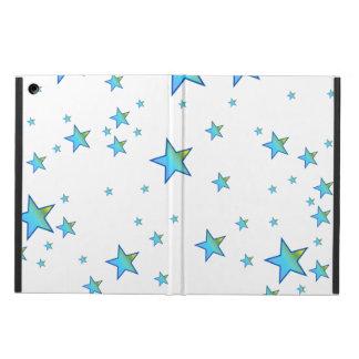 Blue Shiny Stars Background Cover