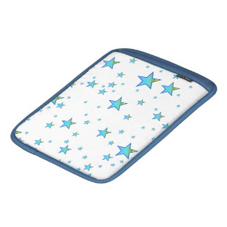 Blue Shiny Stars Background Cover iPad Sleeves