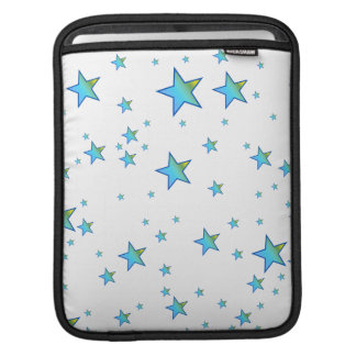 Blue Shiny Stars Background Cover Sleeve For iPads