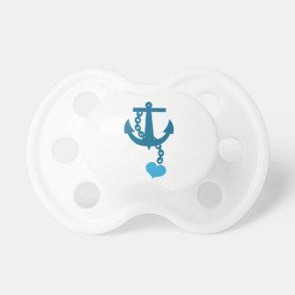 Blue ship ocean anchor pacifier