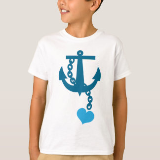 Blue ship ocean anchor T-Shirt