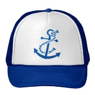 Blue Ship s Anchor Nautical Marine Themed Trucker Hat