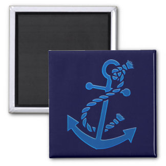Blue Ship s Anchor Nautical Marine Themed Fridge Magnets