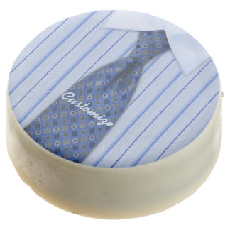 Blue Shirt and Tie Mens Suit Oreo Cookies