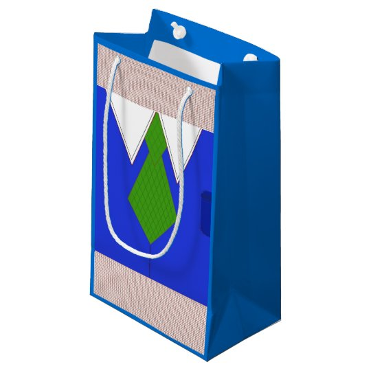 Blue Shirt and Tie Small Gift Bag