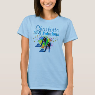 Blue Shoe Queen 50th Birthday Tees And Apparel