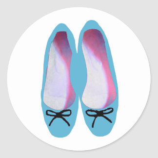 Blue Shoes Classic Round Sticker