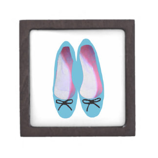 Blue shoes jewelry box