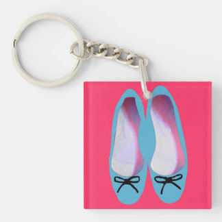 Blue shoes keychain