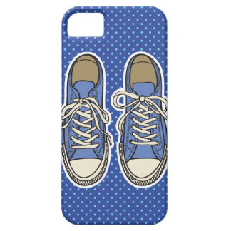 Blue shoes with Blue Polka dots iPhone SE/5/5s Case