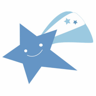 Blue Shooting Star Acrylic Cut Out