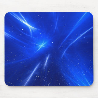 Blue Shooting Stars Mouse Pad