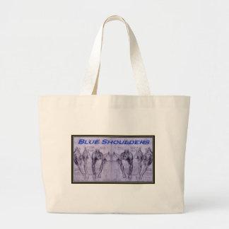 Blue Shoulders black outline.jpg Canvas Bags