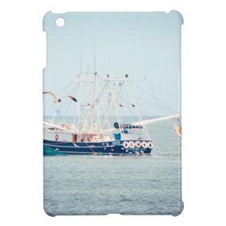 Blue Shrimp Boat on the Ocean Cover For The iPad Mini