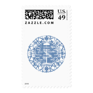 Blue Shuan Xi Stamp