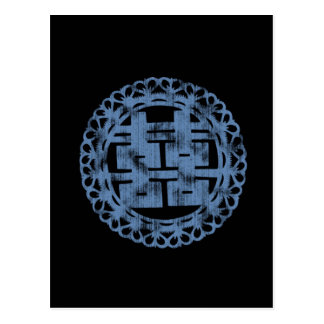 Blue Shuan Xi Postcard