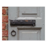 Blue Shutter with Black Latch Poster