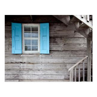 Blue shutters card