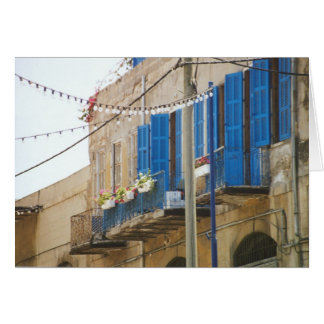 Blue Shutters in Old Jaffa Card