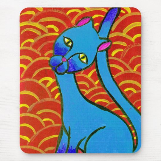 Blue Siamese Mouse Pad