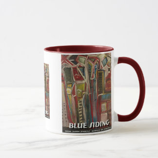 blue siding mug