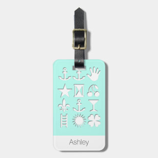 Blue Signs Clipart Personalized luggage Tag