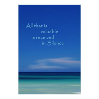 Blue Silence Abstract Photo Print