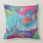 Blue Silk Image Pillow
