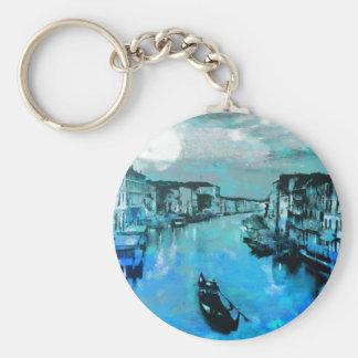 Blue Silk In Italian Keychain