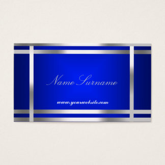 Blue Silver Abstract Business Card