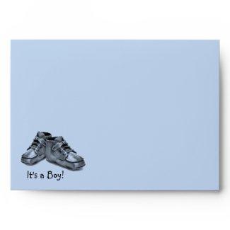 Blue Silver Baby Shoes Baby Boy Envelope envelope