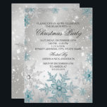 "Blue &amp; Silver Crystal Snowflake Christmas Party Invitation<br><div class=""desc"">Blue &amp; Silver Christmas Party Invitation. Elegant Crystal Snowflakes. Please Note: All flat images!</div>"