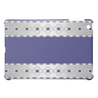 Blue Silver Diamond Sapphire Wavy Stripes Cas iPad Mini Covers