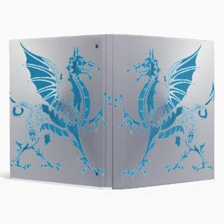 Blue & Silver Dragon 3 Ring Binder