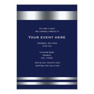 Dinner birthday invitations zazzle blue silver elegant dinner party event invitation stopboris Images
