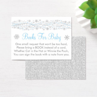 Blue & Silver Glitter Book Request Cards