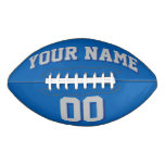 BLUE SILVER GRAY AND NAVY Custom Football