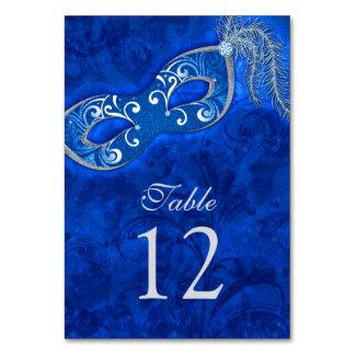 Blue Silver Masquerade Ball Mardi Gras Wedding Card