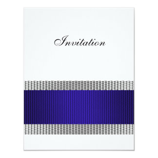 Blue & Silver Metal Trim White All Events Card